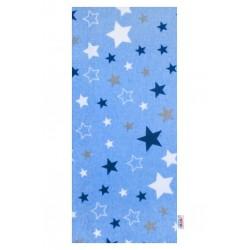 Flanelová plena s potiskem New Baby modrá hvězdy, Modrá