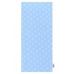 Flanelová plena s potiskem New Baby modrá hvězdičky bílé, Modrá