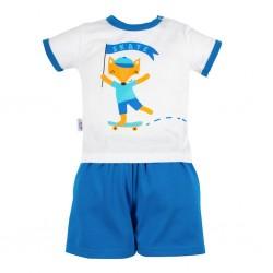 Kojenecká souprava tričko a kraťásky New Baby Liška, Modrá, 56 (0-3m)