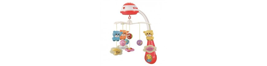 Kolotoče na postýlku, hračky se zvukem